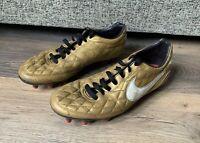 Nike Ronaldinho 10R O CARA FG Gold Football Boots- UK Size 10- Moulded Studs