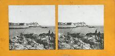 Antibes Vue générale Photo PL37 Stereo Vintage Argentique