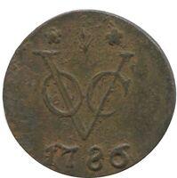 1786 VOC DUIT GELDERLAND Netherlands EAST INDIES COLONIAL VOC1027.8US