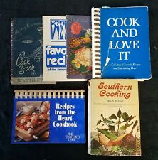 Cookbooks: Lot of 5 (Pampered Chef, The Way to a Man's Heart-VINTAGE +more)