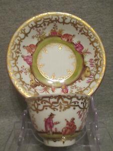 Meissen / Dresden Porcelain Chinoiserie Tea Bowl & Saucer. (No1)