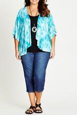 Stunning Ladies Loose Fitting Tie Dye Print Kimono / Jacket Sizes 24 (FREE POST)