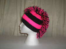 Mohican style Knitted hat, festival, gothic, biker, punk, emo, football