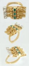 Designerring Gold 585 massiv mit Achat Goldring Damenring Ring Gold Einzelstück