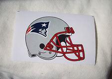 2 NFL New England Patriots Team Logo on Helmet Shaped Paper Sticker #19