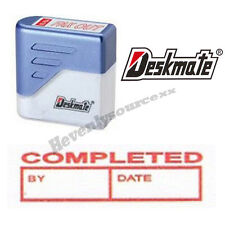 { COMPLETED BY DATE } Deskmate Red Pre-Inked Self-Inking Rubber Stamp #KE-C06B