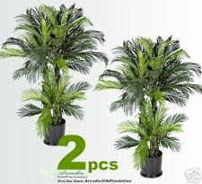 SIX Phoenix Palm Artificial Tropical Trees Potted NEW79