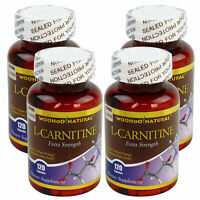 4 x Extra Strength L-Carnitine 500 mg Fat Burn HIGH POTENCY 120 Caps Made In USA