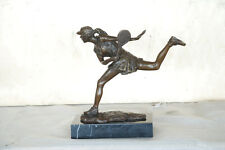 Bronze Sculpture Tennis female Players Figurine Bronze Statue, Signed: Milo