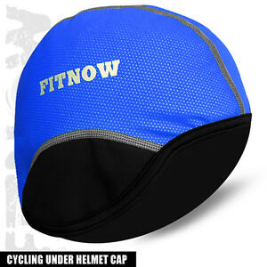 Cycling Skull Under Helmet Cap Cycle Motorbike Thermal Caps BLue Size S to XL