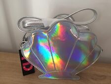 Primark Girls Holographic Shell Mermaid Design Bag With Strap NEW