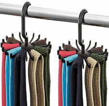 Zober Spinning Tie Rack and Belt Hanger (2 Pack) Ultimate Hanger Holder