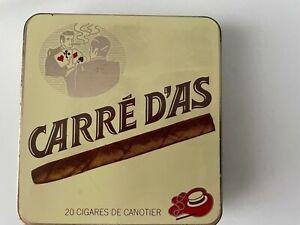 ANCIENNE BOITE A CIGARILLOS CARRÉ D'AS