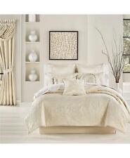 J Queen New York Blossom 4 Piece California King Comforter Set Ivory $585