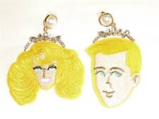CG2490...EMBROIDERED COUPLE EARRINGS - FREE UK P&P