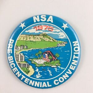 """NSA Vintage Convention Button 1975 Pin Back 3"""""""