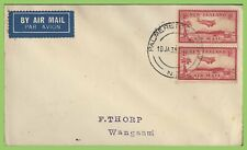 New Zealand 1938 Flight cover, Palmerston North to Wanganui