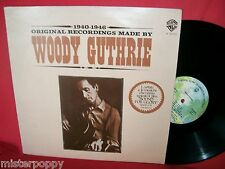 WOODY GUTHRIE 1940/1946 Original recording made by LP ITALY 1977 MINT-