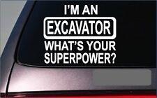 """Excavator Superpower 8"""" Sticker *G394* Decal backhoe construction hard hat"""