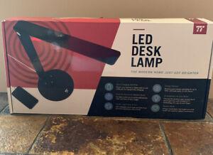 LED Desk Lamp TaoTronics, Integrated USB Port for Charging, Black