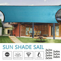 Sun Shade Sail Sunshade Rectangle Patio Backyard Canopy Awning UV Block Cover