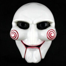 Halloween Cosplay Costume Clown Doll Fun Unisex Saw Puppet Horror Scary Mask