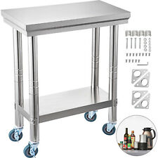24x12 Kitchen Stainless Steel Work Table Cleanable Shelf Use For Food Prep