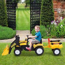 Tretauto mit Fontlader und Anhänger Traktor Trettraktor ab 3 Jahre Kinder