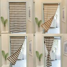 Striped Half Short Doorway Curtain Cafe Kitchen Bath Door Window Curtains Drapes