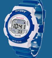 Children Boys LED Digital Sports Watch Kids Alarm Date Waterproof Watches Gift