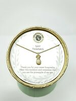 "SEA LA VIE - SPARTINA 449 - 18""NECKLACE - 18K GOLD PLATED ""THANKS"" *$39 RETAIL*"