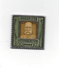 .925 Silver Osterreichische Post 10 Kronen KAISERLICHE KONIGLICHE STAMP Enamel