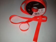 Berisfords Grosgrain Ribbon 5 Widths 3 Lengths. 35 Colours Flo Orange 6mm X 3mtrs