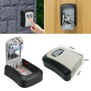 Outdoor High Security Wall Mounted Key Safe Box Code Lock Storage 4 Digit Home.