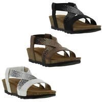 Marco Tozzi 28500 Womens Black Brown White Adjustable Sandals Size UK 7-9