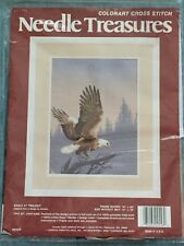 Needle Treasures Eagle At Twilight Colorart Cross Stitch Kit #02556 NIP