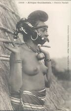 French West Africa SENEGAL semi nude Foulah woman ethnic PC 1910s