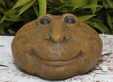 Tête de pierre visage Statuette jardin Sculpture Figurine décorative Statue