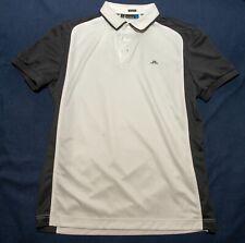 J.Lindeberg Golf Men's XL Polo white/black