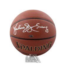 Julius Erving Autographed Spalding Basketball - Leaf COA