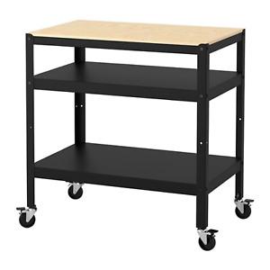 IKEA Bror Utility Cart Black Pine Plywood 603.338.50