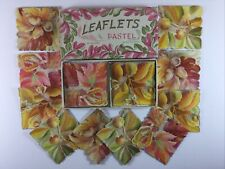 Vintage Lot 12 Nos Unused Pastel Acorn Leaf Greeting Blank Note Cards in Box