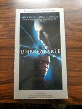 Unbreakable Vhs 2000 Touchstone Bonus Edition Bruce Willis Samuel L Jackson