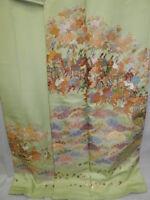 GORGEOUS & EXQUISITE Emb! Silk Japanese HOUMONGI KIMONO w/SAMURAI J108