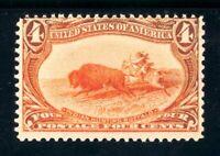 USAstamps Unused FVF US 1898 Trans-Mississippi Buffalo Hunting Scott 287 MNH