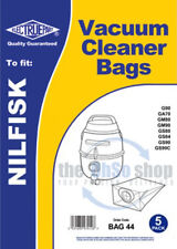 5 x NILFISK  Vacuum Cleaner Dust Bags To Fit - GD90, GM80, GM90