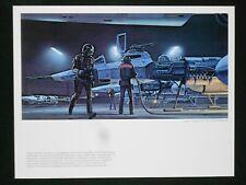 Vintage Star Wars ANH 1977 Ralph McQuarrie Portfolio Art Print #12 Y-Wing Ready