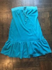 ad61592899 NWT Juicy Couture Turquoise Blue Terry Drop Waist Tube Coverup Dress Size  XS P