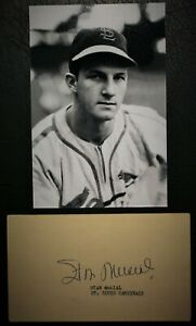 Playing Days 1956 Stan Musial Signed Government Post Card HOF D 2013 PSA DNA