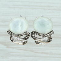 Le Vian Diamond Mother of Pearl Quartz Drop Earrings - 14k White Gold Pierced